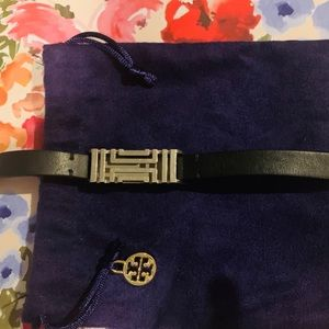 Tory Burch Fitbit - Black Leather & Silver